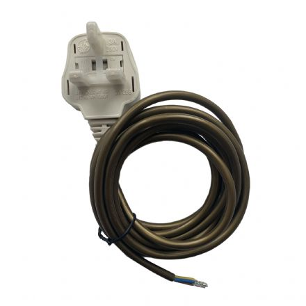 Gold Cable with Pre Wired Plug - (use with brass push bar lamp holders)